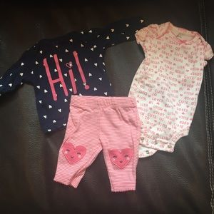 Sweet baby girl newborn outfit!